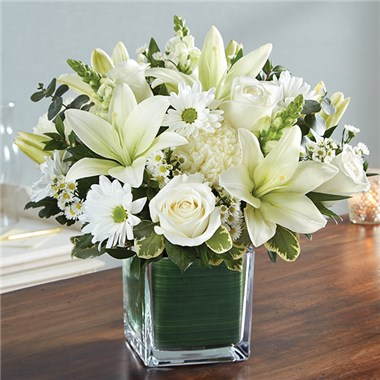 1 800 Flowers Healing Tears All White Aaa Florist